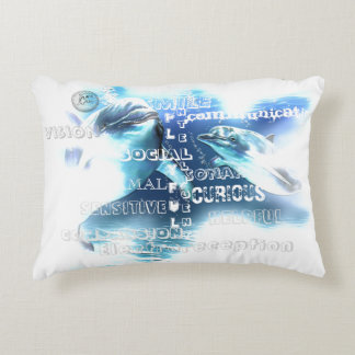 Incredible Dolphins Polyester Accent Pillow 16x12