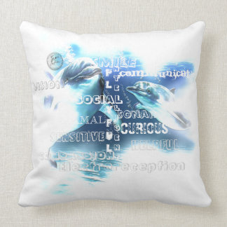 """Incredible Dolphins Polyester Throw Pillow 20""""x20"""""""