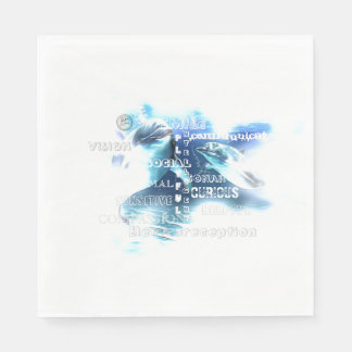 Incredible Dolphins White Luncheon Paper Napkins