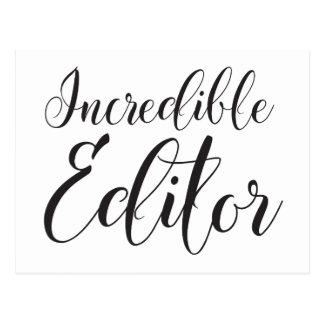 incredible editor postcard