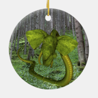 Incredible Elephant Python Ceramic Ornament