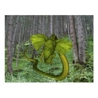 Incredible Elephant Python Postcard
