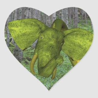Incredible Elephant Python Heart Sticker