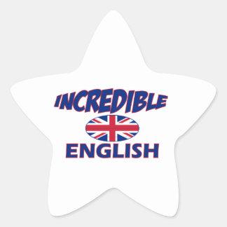 incredible english designs star sticker