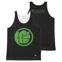 Incredible Hulk Logo All-Over-Print Tank Top