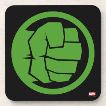 Incredible Hulk Logo Beverage Coaster