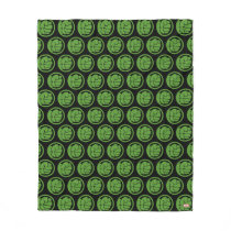 Incredible Hulk Logo Fleece Blanket