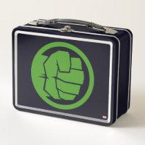 Incredible Hulk Logo Metal Lunch Box