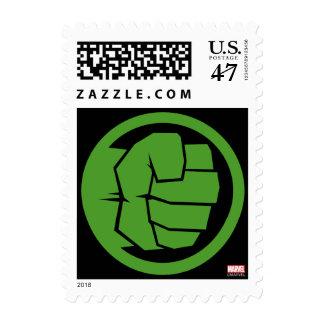 Incredible Hulk Logo Postage Stamp