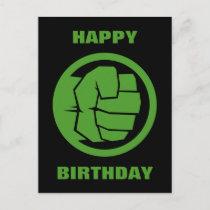 Incredible Hulk Logo Postcard