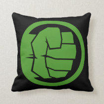 Incredible Hulk Logo Throw Pillow