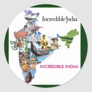 incredible india, INCREDIBLE INDIA! Round Sticker