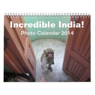 Incredible India - Photo Calendar 2014