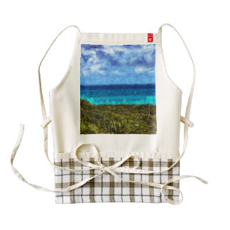 Incredible landscape in the Bahamas Zazzle HEART Apron