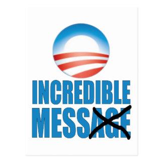 Incredible Mess - Anti Obama Postcard