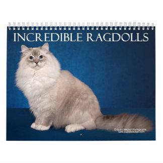 Incredible Ragdolls Wall Calendar