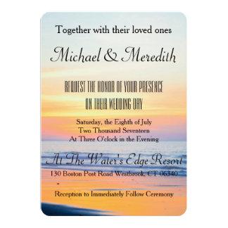 Incredible Sunset Beach Wedding Invitation