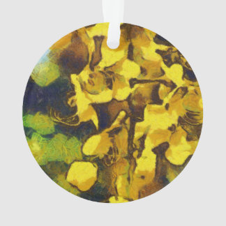 Incredible yellow flowers ornament