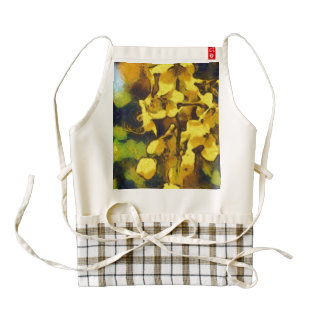 Incredible yellow flowers zazzle HEART apron