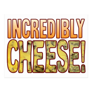 Incredibly Blue Cheese Postcard