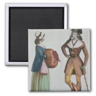 `Incroyable et Merveilleuse', c.1775 2 Inch Square Magnet