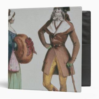 """Incroyable y Merveilleuse"", c.1775 Carpeta 1 1/2"""