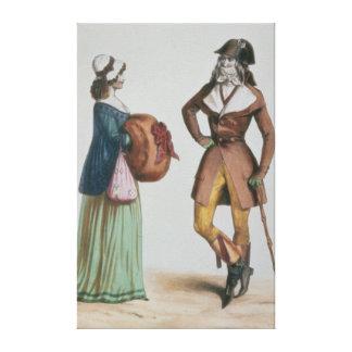 """""""Incroyable y Merveilleuse"""", c.1775 Lona Estirada Galerías"""
