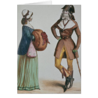 """Incroyable y Merveilleuse"", c.1775 Tarjeton"