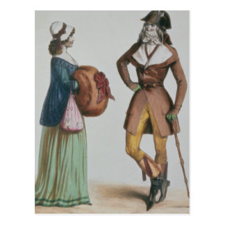 """Incroyable y Merveilleuse"", c.1775 Tarjetas Postales"