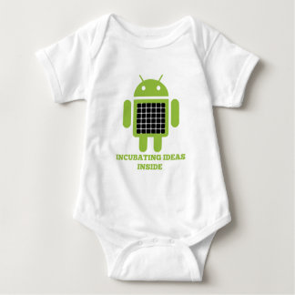 Incubating Ideas Inside (Bug Droid Grid Illusion) Baby Bodysuit