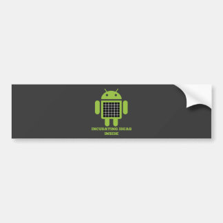 Incubating Ideas Inside (Bug Droid Grid Illusion) Bumper Sticker
