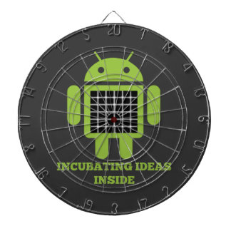 Incubating Ideas Inside (Bug Droid Grid Illusion) Dart Board