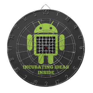 Incubating Ideas Inside Bug Droid Grid Illusion Dartboard