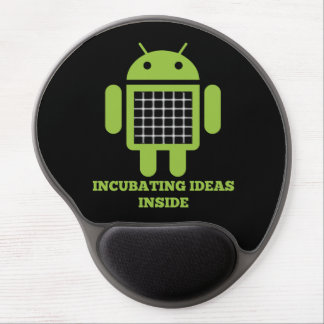 Incubating Ideas Inside (Bug Droid Grid Illusion) Gel Mouse Pad