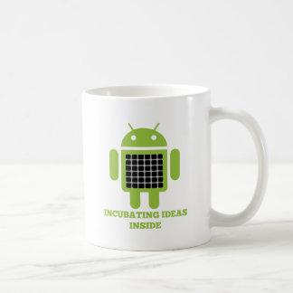 Incubating Ideas Inside (Bug Droid Grid Illusion) Mugs