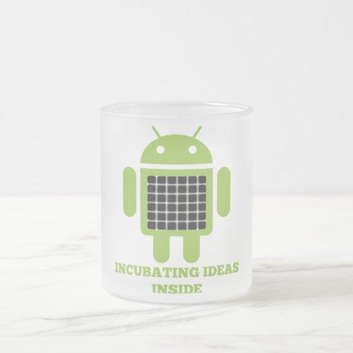 Incubating Ideas Inside (Bug Droid Grid Illusion) Coffee Mugs
