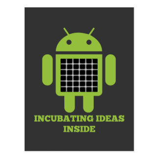 Incubating Ideas Inside (Bug Droid Grid Illusion) Postcard