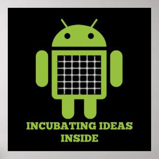 Incubating Ideas Inside (Bug Droid Grid Illusion) Print
