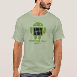 Incubating Ideas Inside (Bug Droid Grid Illusion) T-Shirt