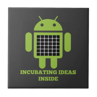 Incubating Ideas Inside (Bug Droid Grid Illusion) Tile
