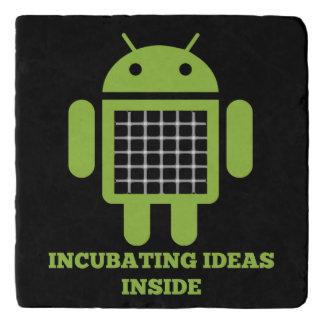 Incubating Ideas Inside Bug Droid Grid Illusion Trivet