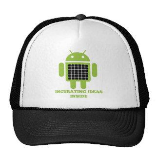 Incubating Ideas Inside (Bug Droid Grid Illusion) Trucker Hat