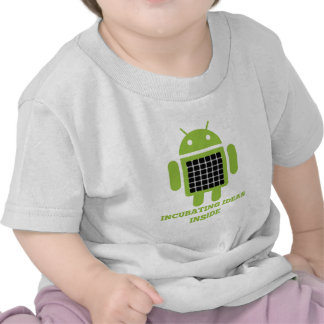 Incubating Ideas Inside (Bug Droid Grid Illusion) Tee Shirts