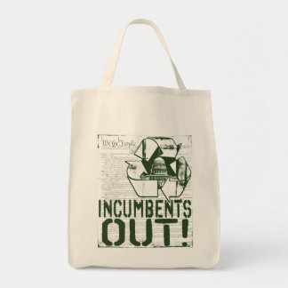 INcumbents OUT by Yes Politics Suck Tote Bag