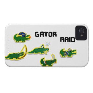 Incursión del cocodrilo Case-Mate iPhone 4 protectores