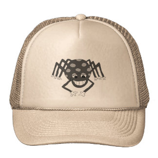 """Incy"" the spider (black and white) Trucker Hat"