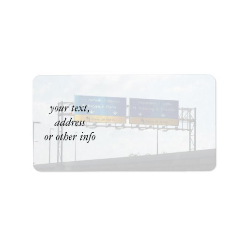 IND Airport Arrivals & Departures Personalized Address Labels