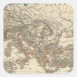 Inde de Romanum del Imperium Bello Pegatina Cuadrada
