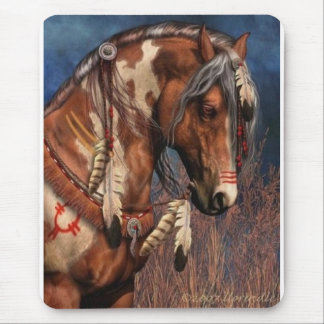 Indean Horse Mouse Pad