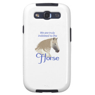 INDEBTED TO THE HORSE SAMSUNG GALAXY S3 COVER